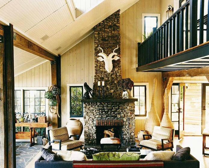 living room thom filicia cabin