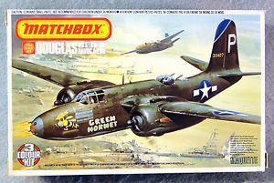 Matchbox-1-72-Douglas-A-20G-Havoc-Boston-Mk-IV-Vintage-Plastic-Model-Kit