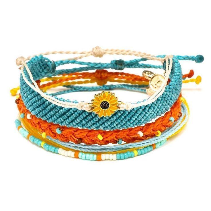 Women's Waterproof String Dreaming Out Loud Pack Sunflower Charm Bracelet Handmade Seed Beads Friendship Female Summer – Stuff I want