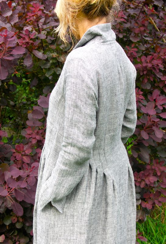 Winter Shirt Dress, winter weight Irish Linen £265.