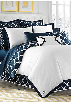 Jill Rosenwald Hampton Link Navy Duvet Collection - Online Only. Mom-- this is it!