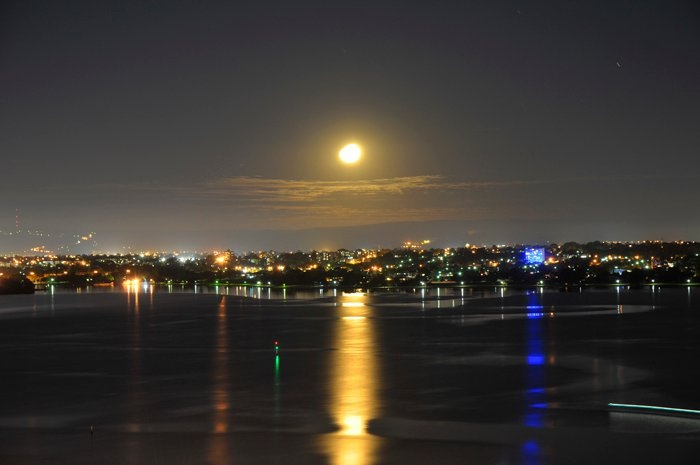 Moon Light from Kings Park - Photography By Kate Namestnik