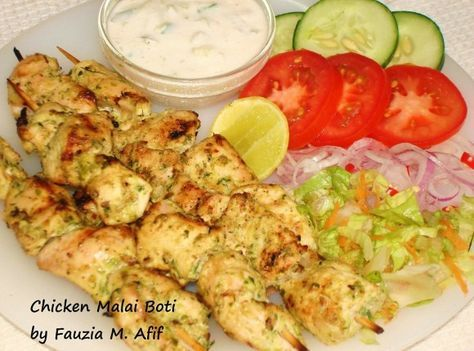{MADE} Chicken Malai Boti -doubled recipe, used sour cream instead of cream, 2 red chillies, no white pepper, less red chilli and salt (needs more next time), 1 lemon, grilled indoor.