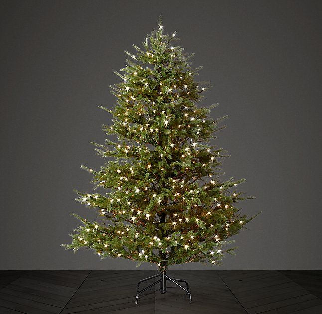 Faux Noble Fir Tree with Illuminate Technology - 6½' Note: Bulbs can be replaced