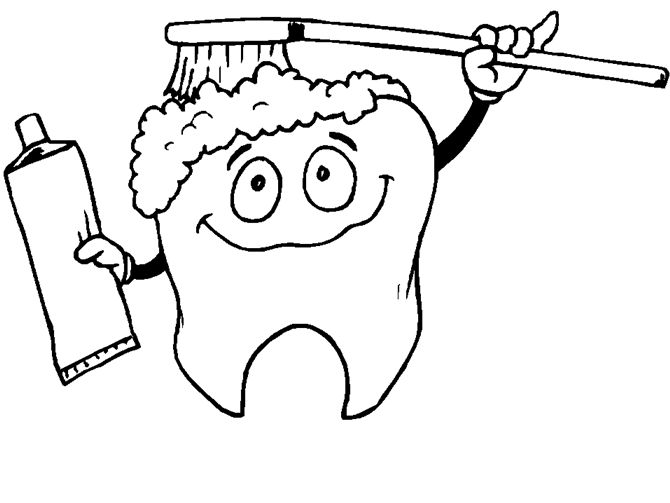 Tooth coloring pictures for kids printablekidsfreecoloring net free download kids coloring printable