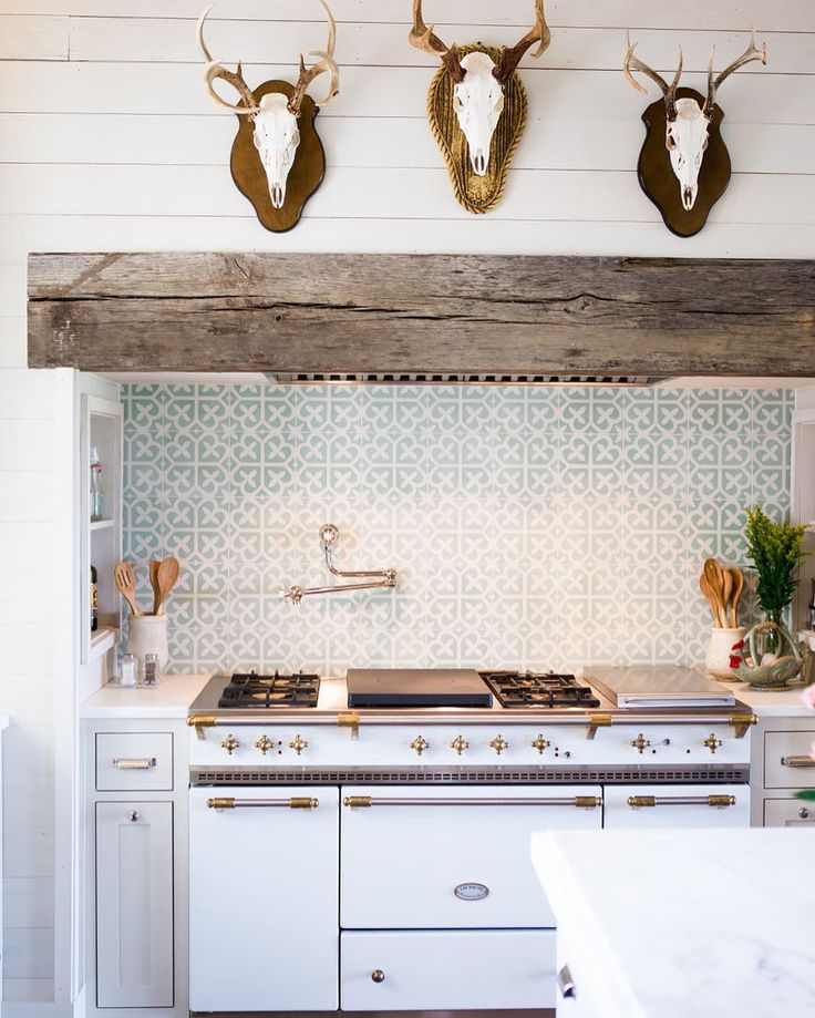 "Ashley Gilbreath on Instagram: ""How about this kitchen shot from our latest feature in @southernlivingmag?? We're still daydreaming about it✨ #thatbacksplashtho…"""