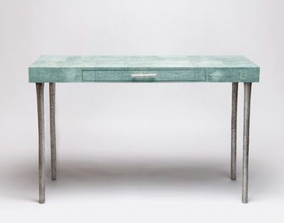 turquoise shagreen Audrey Desk- made goods
