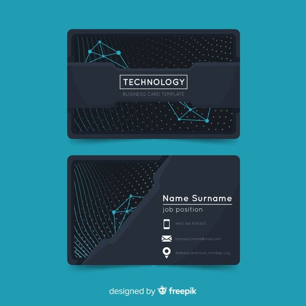 Download Tech Business Card For Free Vector Business Card Business Card Design Creative Design Business Card Ideas
