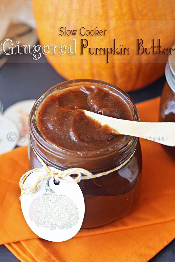 Slow Cooker Gingered Pumpkin Butter