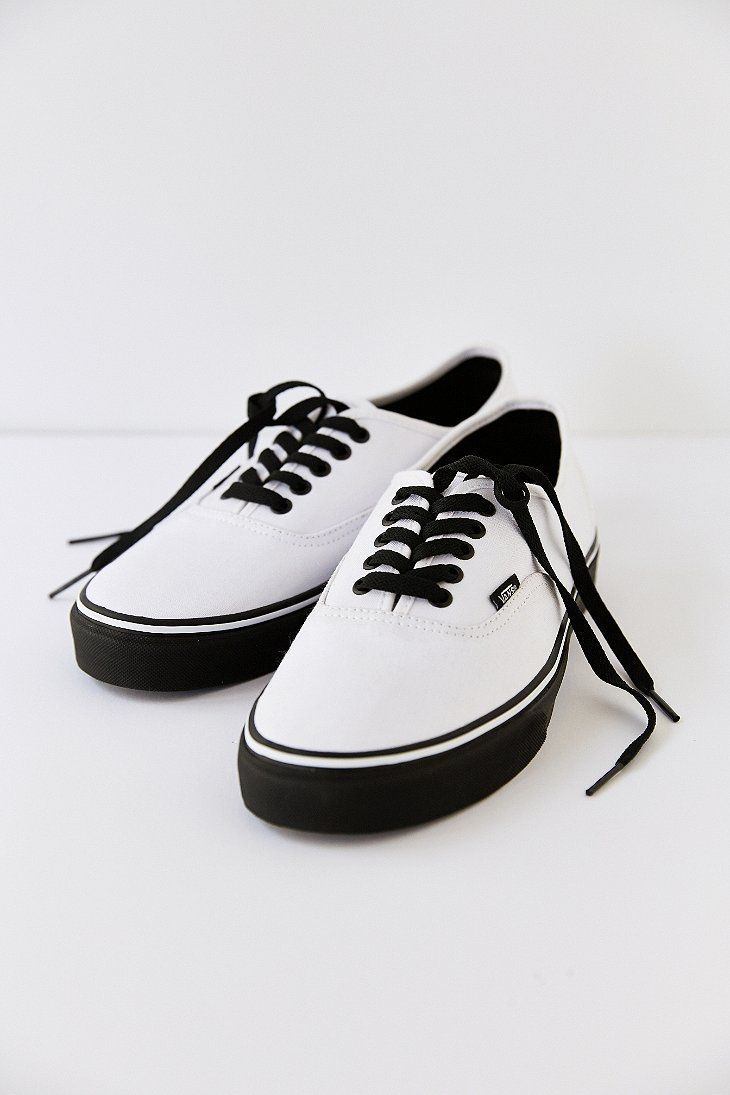 Vans Authentic Black Sole Men's Sneaker $45