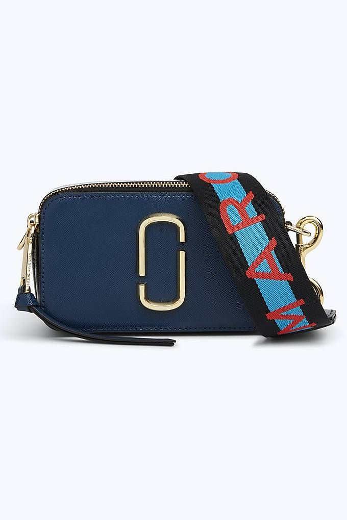 5439461ef4b7 Marc Jacobs Logo Strap Snapshot Small Camera Bag in Blue Sea