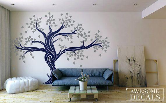 Gran etiqueta de la pared del árbol árbol pared por awesomeDecals