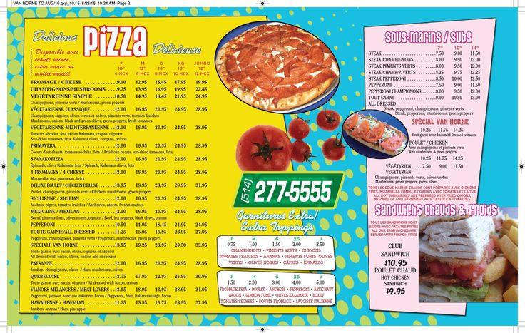 Résultats de recherche d'images pour «menu pizzeria»