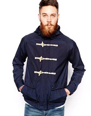 Image 1 ofASOS Hooded Jacket With Duffle Fastening