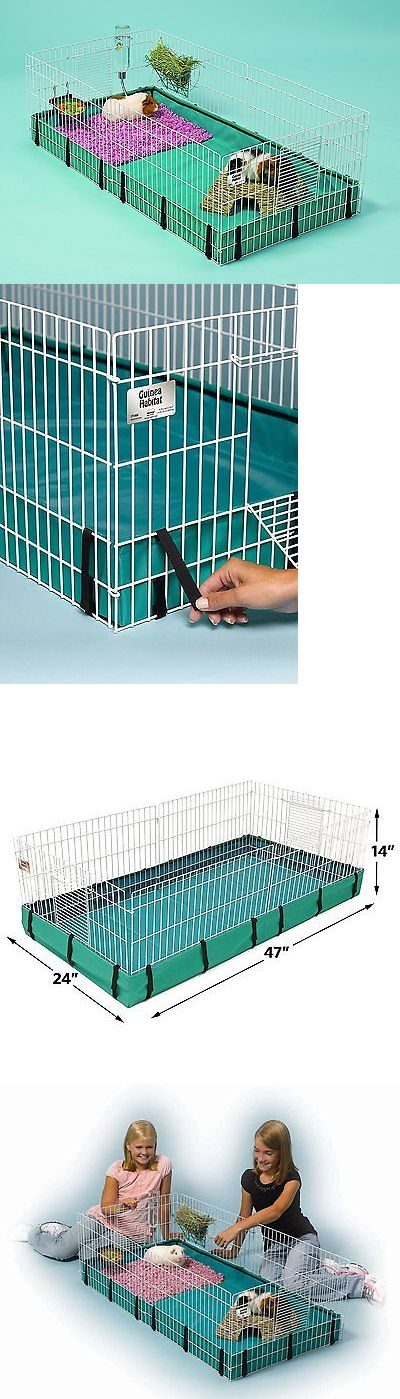 Cages and Enclosure 63108: Large Guinea Pig Hamster Rat Bunny Rabbit Ferret Hedgehog Cage Pet Home Habitat BUY IT NOW ONLY: $43.86