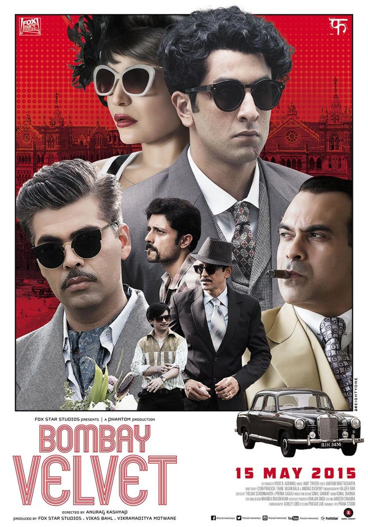Ranbir Kapoor, Anushka Sharma, Karan Johar- a star-studded Anurag Kashyap Film. Read unknown facts of the movie: http://s.cine27.com/Bombay_Velvet_facts #CineMagazineDigital #BombayVelvet #AnuragKashyap #RanbirKapoor #AnushkaSharma #KaranJohar #KJo