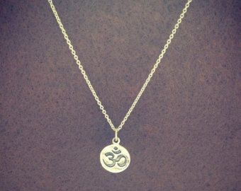 925 Sterling Silver -Ohm om Yoga necklace