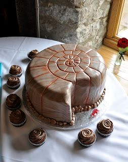 I could settle for the cake in the shape of an ammonite ... He can have any flavor he wants lol