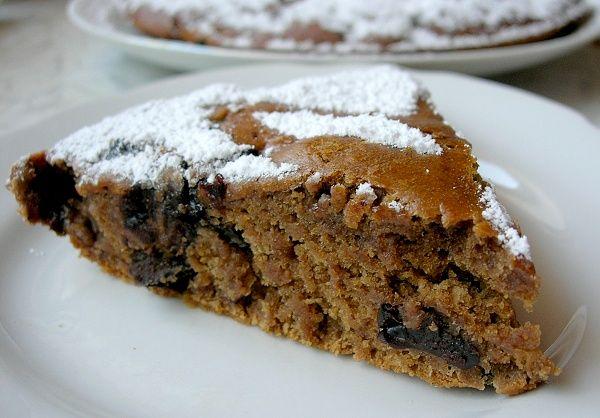 Постный кофейный пирог с черносливом | Печем и варим
