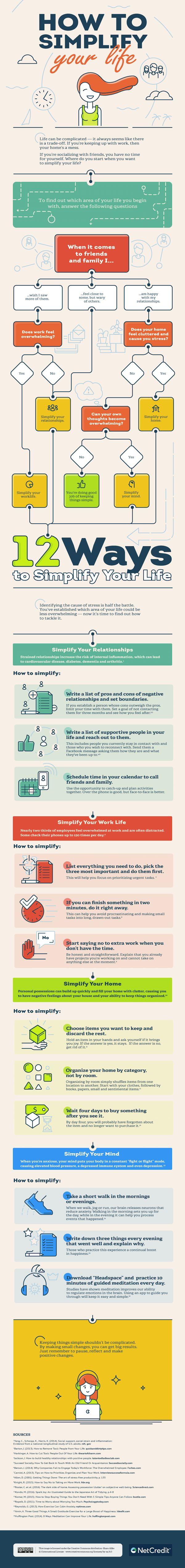 Infographic: How To Simplify Your Life - DesignTAXI.com