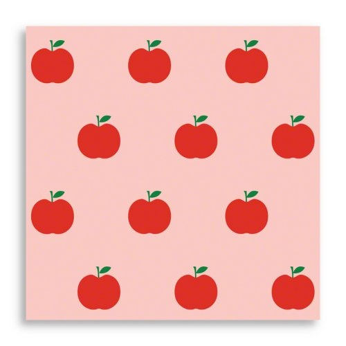 Apple Peel and Stick Wallpaper - Red/Pink