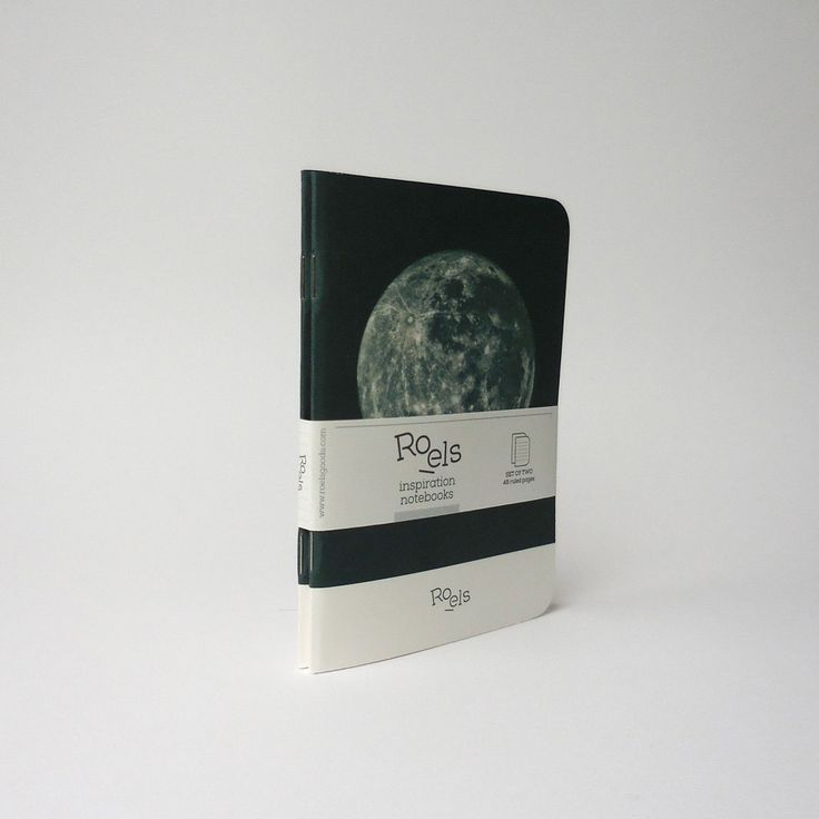 Set of 2 Roels notebooks moon series size A6 by RoelsGoods