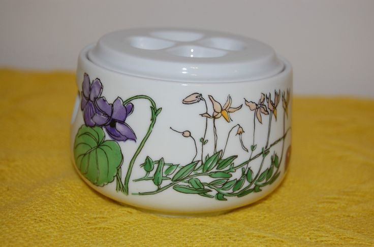 Vintage Sugar Bowl with Lid Spal Portugal China Floral Midsommar by Walfridson | eBay