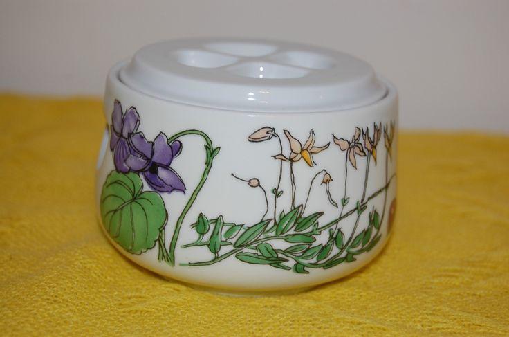 Vintage Sugar Bowl with Lid Spal Portugal China Floral Midsommar by Walfridson   eBay