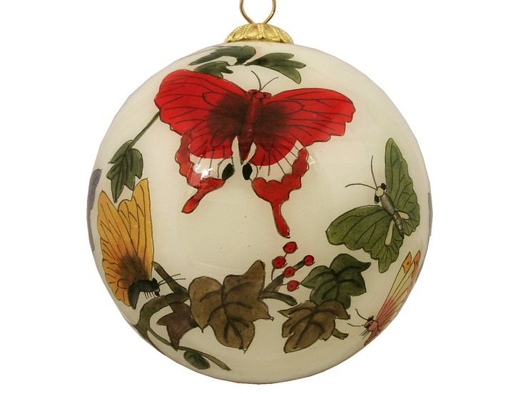 Butterfly Eglomise Ornament