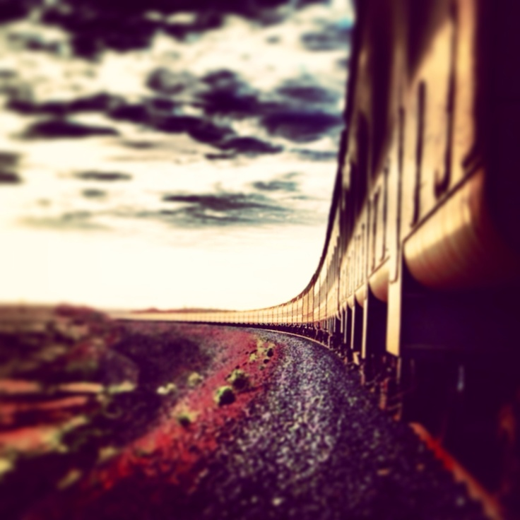 Great photograph by Nathan Brown. Iron ore train at sunrise