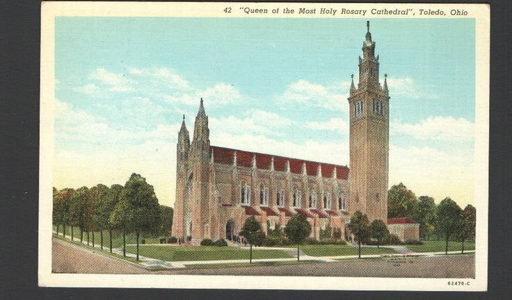 Postcard 42 Queen of the Most Holy Rosary Cathedral, Toledo, Ohio 62478-C