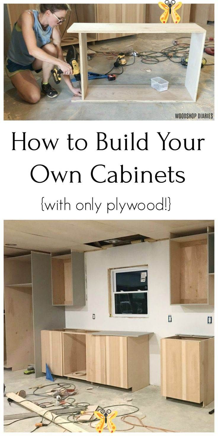 Build Your Own Cabinets From Only Plywood Build Your Own Kitchen Bathroom Closet Anywhere Cabinets From Using Only Plywood With T I 2020 Koksideer Kok Snickerier