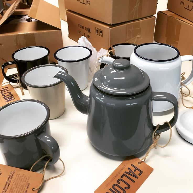 Just got in! Falcon enamel tea ware. Timeless.