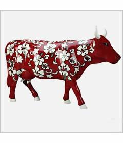 CowParade Kansas City cow detail - Cowabunga
