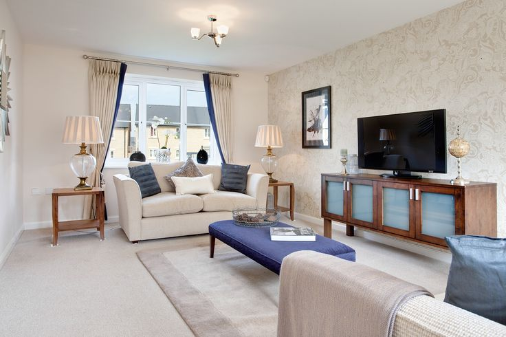 The living room in The Evesham at The Homelands in Bishops Cleeve   Bovis Homes