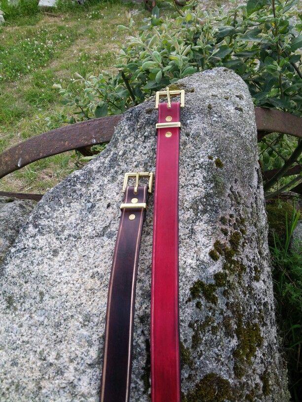 1 inch plain leather belt