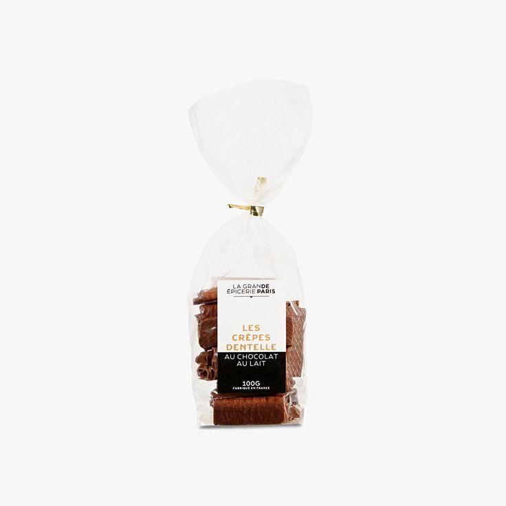 Crêpes dentelle au chocolat au lait - La Grande Epicerie de Paris - Find this product on Bon Marché website - La Grande Epicerie de Paris