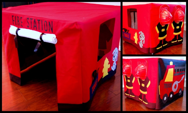 Fire Station Card Table TentTables Tents, Ideas, Stations Tents, Kids Stuff, Fireman Sam, Cards Tables, Stations Cards, County Mom, Fire Stations