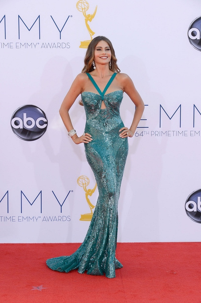 Sofia Vergara shimmers in a Zuhair Murad gown at the 2012 Emmy Awards