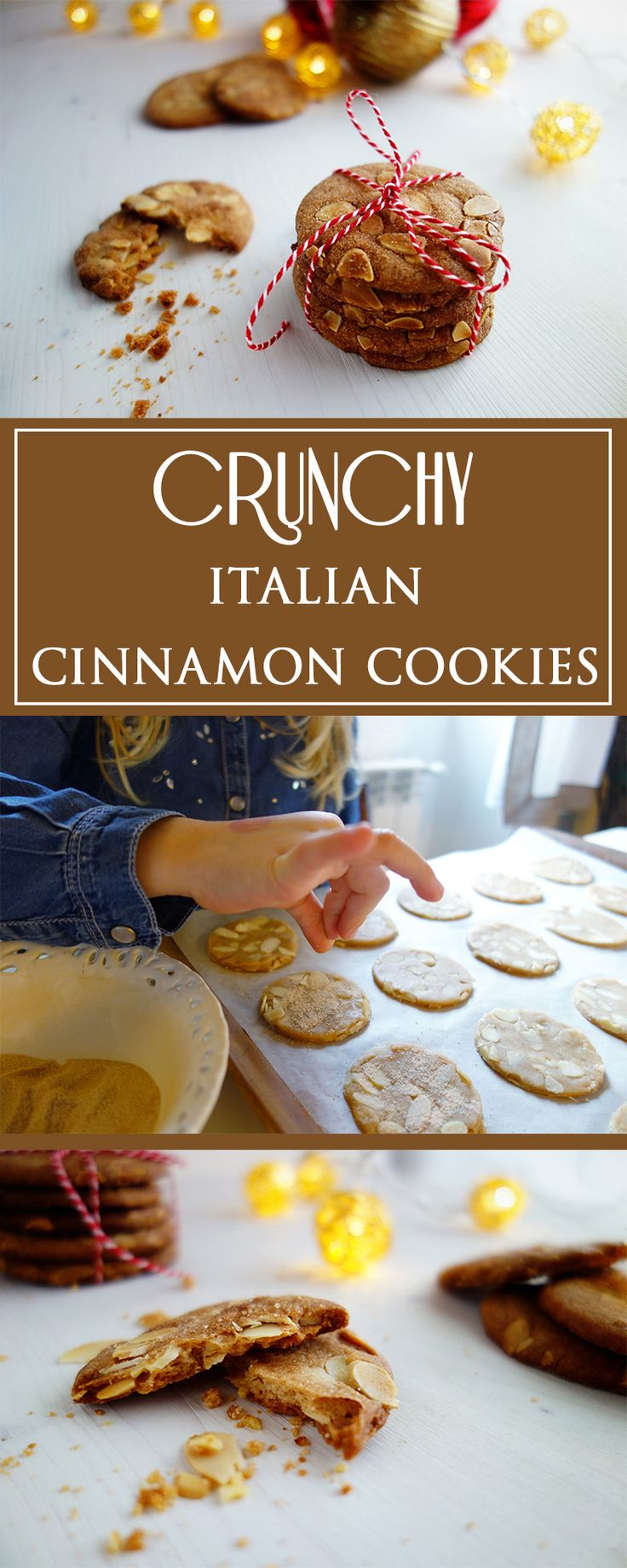 Crunchy Cinnamon Cookies - a simple, irresistably delicious recipe for italian cookies. Also great to make together with kids & for the Christmas season! 🍪🇮🇹🎄| cucina-con-amore.de