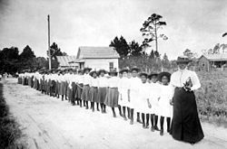 """Dr. Mary Jane McLeod Bethune in Daytona Beach, FL July 10, 1875 – May 18, 1955 She was known as """"The First Lady of The Struggle"""" because of her commitment to bettering African Americans.[1]"""