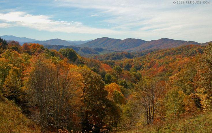The mountains of western North Carolina