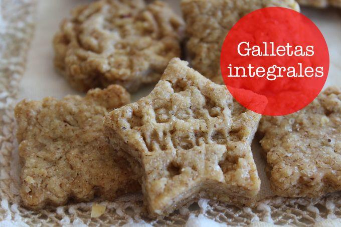 Unas galletas integrales muy saludables. La receta es sencillísima y el resultado es fantástico.