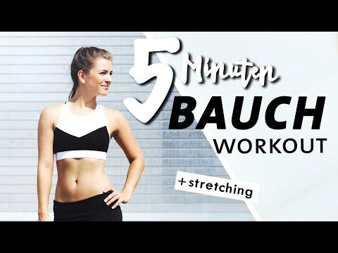 Bauch Home Workout | Kurz & Intensiv | 5 Minuten Core Training + Stretching - YouTube