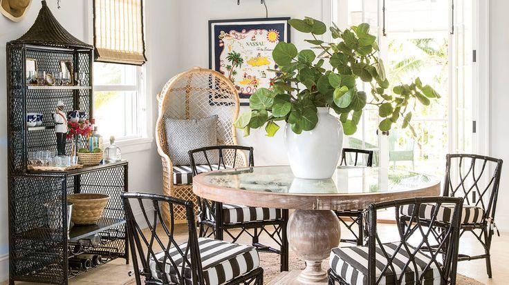 7. Don't be afraid of using ebony furniture.   Bahamas designer Amanda Lindroth spills her secrets for creating authentic Caribbean style.