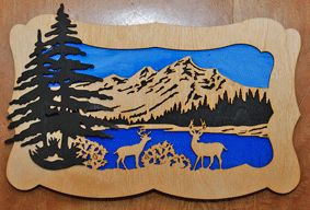 Scroll Saw Wildlife Patterns Free | Scroll Saw Patterns :: Wildlife :: Deer at the lake -