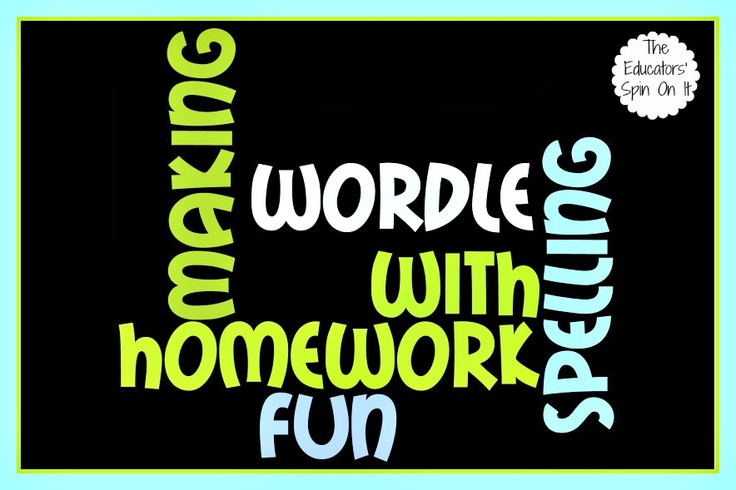 Ideas for Practicing Spelling Words for Homework on Wordle.  Afterschool Express @The Educators' Spin On ItHomework Helpful, Spelling Activities, Practice Spelling, Reading Ideas, Languages Art, Spelling Homework, Teaching Schools Ideas, Schools Express, Spelling Words