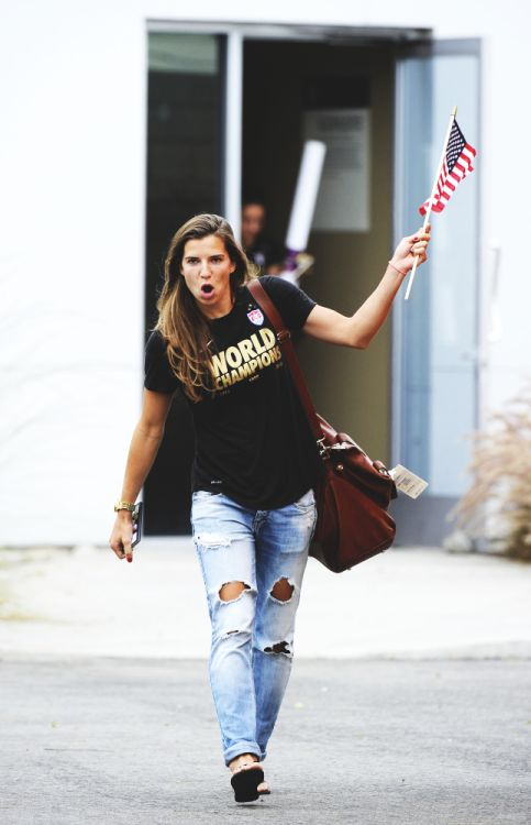 Tobin Heath at the NYC parade