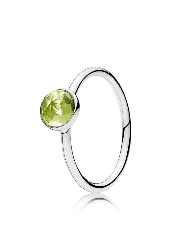 Pandora Ring - Sterling Silver & Glass August Birthstone Droplet | Imported | Style #191012PE-48 | Sterling silver/glass | Photo may have been enlarged and/or enhanced | Web ID:1800233