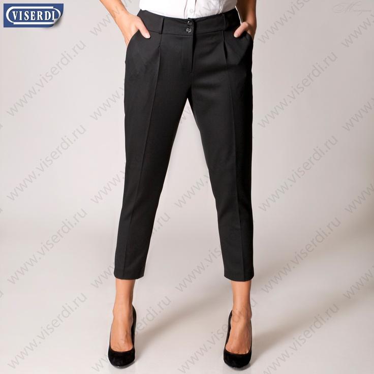 """Шерстяные зауженные укороченные брюки капри """"Капри Дудочки"""" черного или синего цвета"""